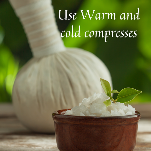 Warm and cold compresses