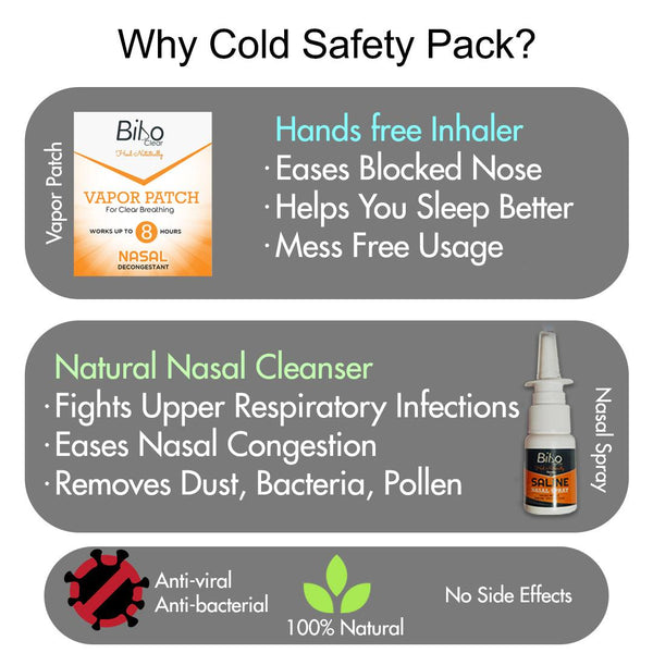 Bibo Natural Cold Relief Pack | NASAL Blockage| Immunity Booster | 2 Products