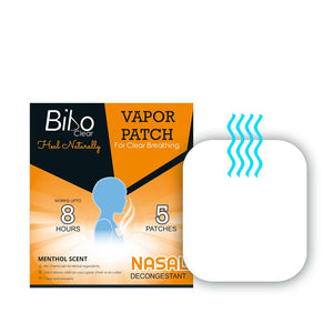 Bibo Clear Vapor Patch, A hand's free inhaler (1 Pack of 5 Patches)