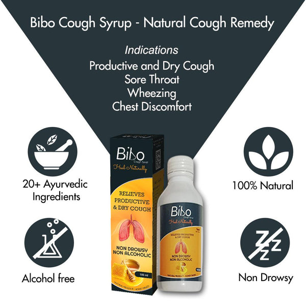 Bibo Cough Syrup | Natural Product - Zero Side Effects | 100ml Bottle