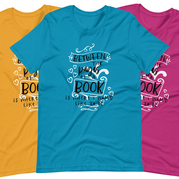 Between the Pages of a Book - Short-Sleeve Unisex T-Shirt