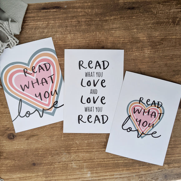 Discounted Read what You Love 5x7 Print