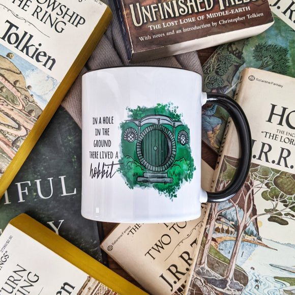 Halfling Door bookish mug