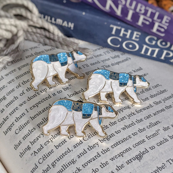 Armored Bear - His Dark Materials inspired - Bookish Pin