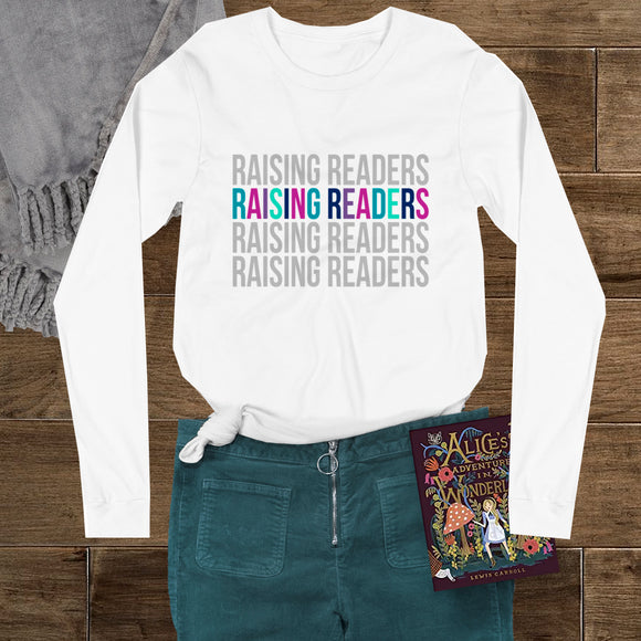 Raising Readers - Bookish Unisex Long Sleeve Tee