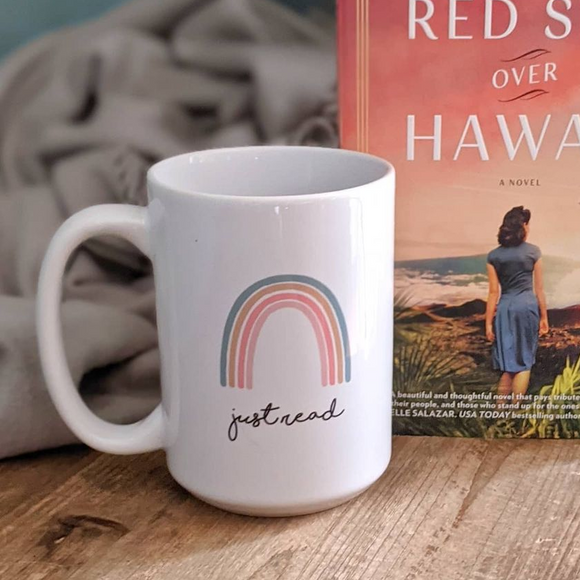 Just Read Rainbow - 15oz Ceramic Bookish Mug