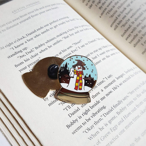 Hogwarts Christmas Snow Globe - Bookish Pin