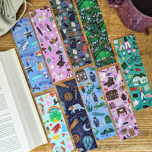Pattern Bookmarks - Bookish Inspired