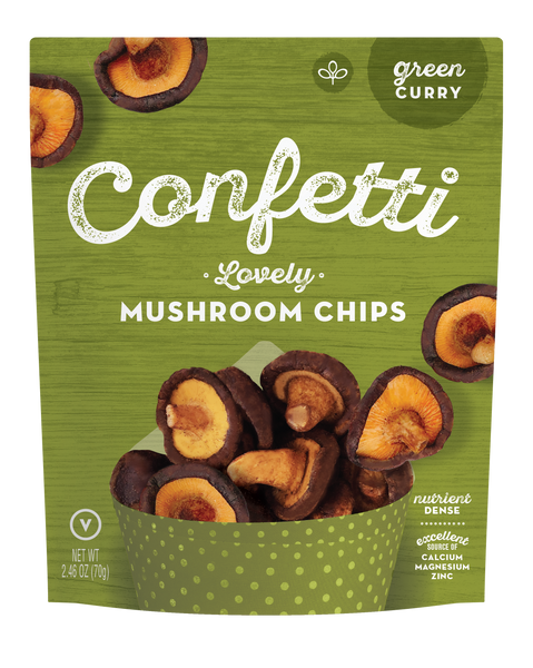 Lovely Mushroom Chips (Green Curry)