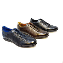 Load image into Gallery viewer, Thanatos Leather Casual Men's Sneakers by Paul Branco