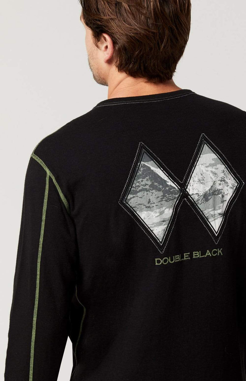 Alp-n-Rock Mens Crew Shirt Double Black Crew