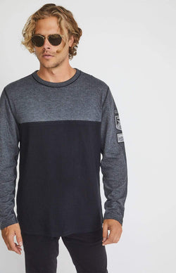 Alp-n-Rock Mens Crew Shirt Ski Patch Crew