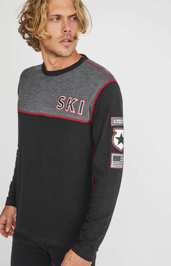 Alp-n-Rock Mens Crew Shirt USA Ski Crew