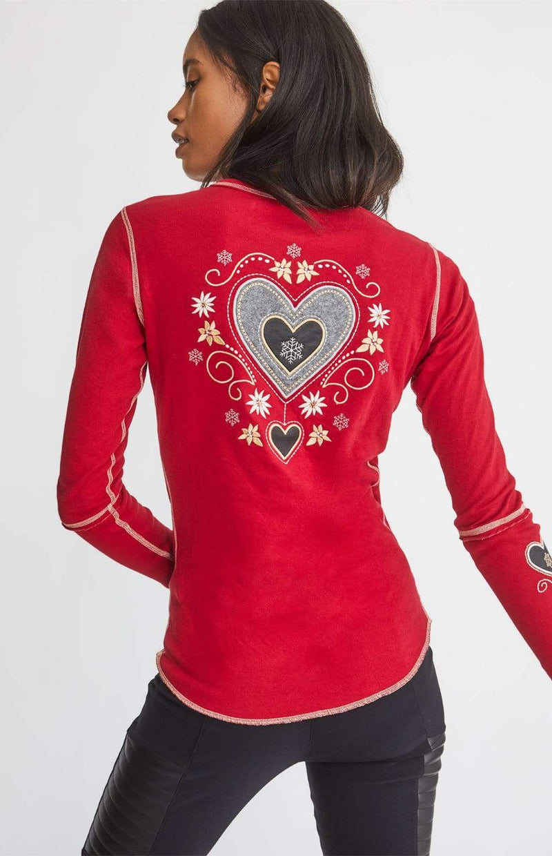 Alp-n-Rock Womens Crew Shirt Alpine Heart Crew