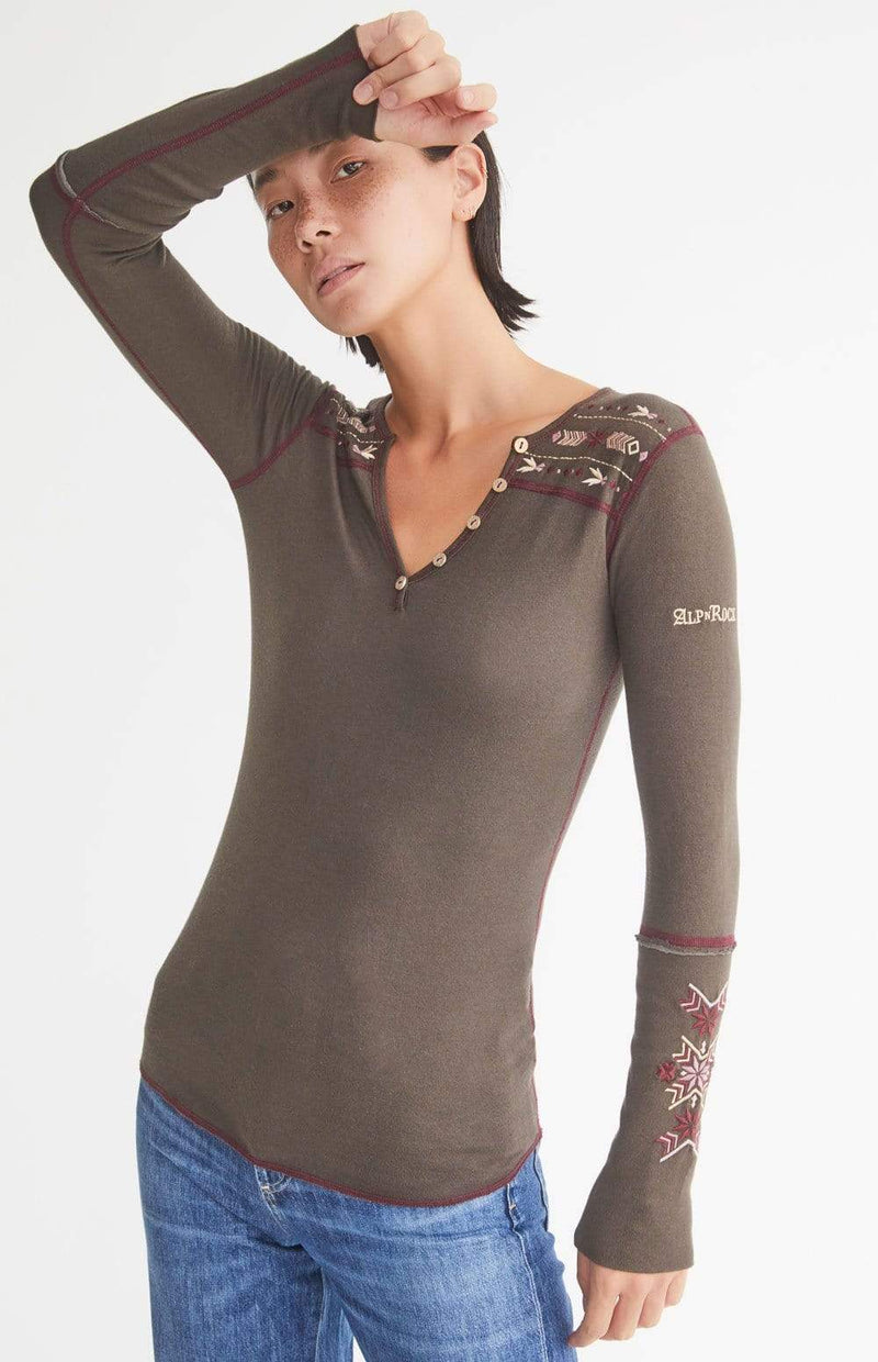 Alp-n-Rock Womens Henley Shirt Anabel Henley