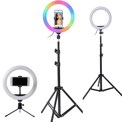 Ring light LED avec support et trépied