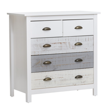 "Load image into Gallery viewer, AMARK ""FL white/blue"" - Chest of drawers (79cm x 40cm, 80cm high) Matching headboard and furniture available"