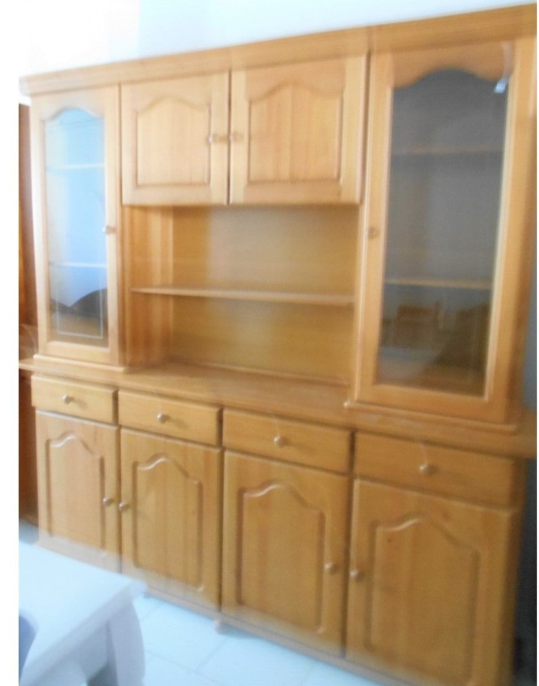 1203 - Large pine wall unit.