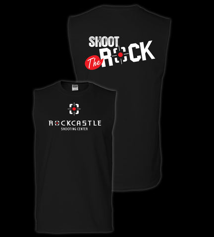 Shoot the Rock - Sleeveless T-shirt - Black