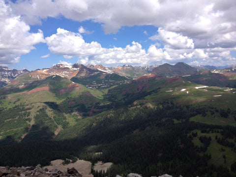 View from Engineer Mountain in Durango Colorado