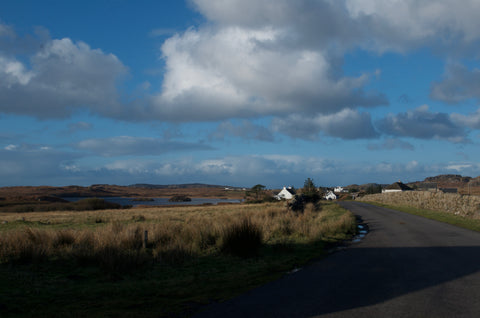 Road to Fionnphort on the Isle of Mull