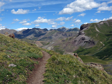A view from Cataract Ridge on the 486-mile Colorado Trail