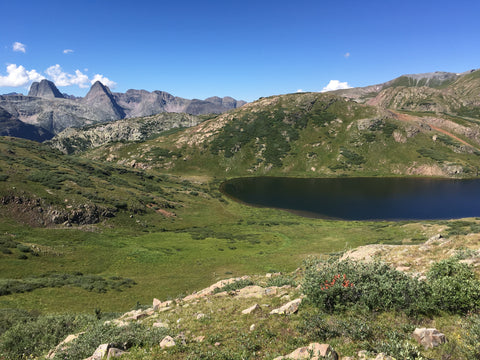 View of Verde Lakes near Silverton CO