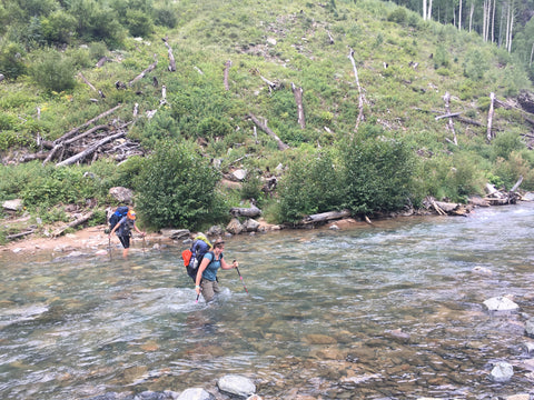 Third river crossing on the Vallecito Trail in COlorado