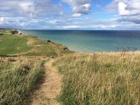 Walking the Norfolk Coast Path through Sheringham and Weybourne England