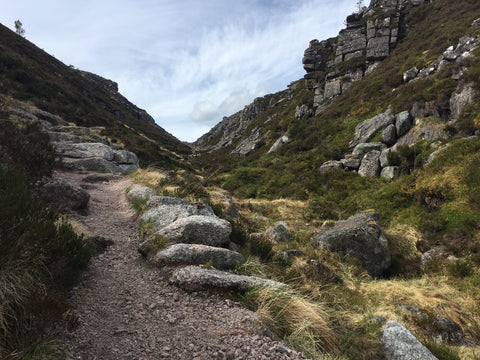 Hiking the Chalamain Gap in the Cairngorms National Park Scotland
