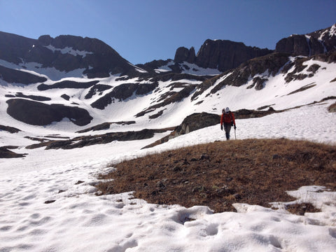Climbing Handies Peak in American Basin 14er Colorado
