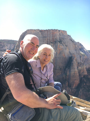 On top of Angel's Landing in Zion National Park