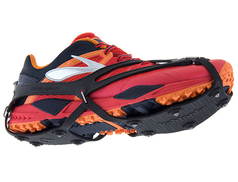 Kahtoola Nanospikes for running in winter, winter traction devices for running shoes