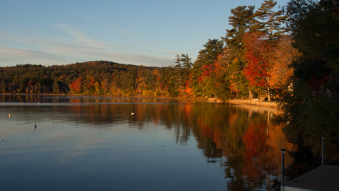 Autumn fall colors on a lake