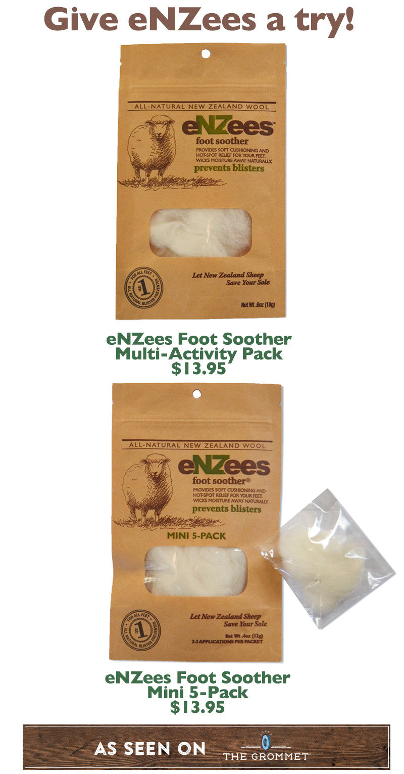 eNZees Foot Soother prevents blisters while hiking, running, or walking
