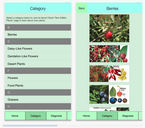 Edible Plant Guide app for iPhone and Android