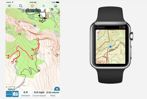 Gaia GPS app for navigation on Apple and Android phones