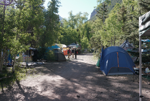 Telluride Town Park camping