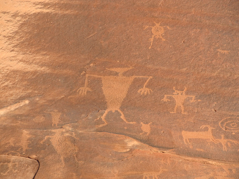 Petroglyphs on Potash Road near Moab, UT