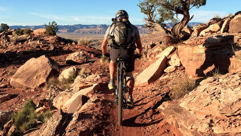 Mountain biking trails in Moab, UT