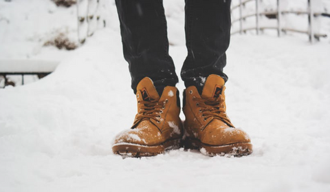 Cold weather can cause blisters on feet