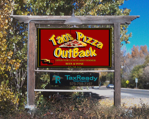 Where to eat in Taos New Mexico, Taos Pizza Out Back