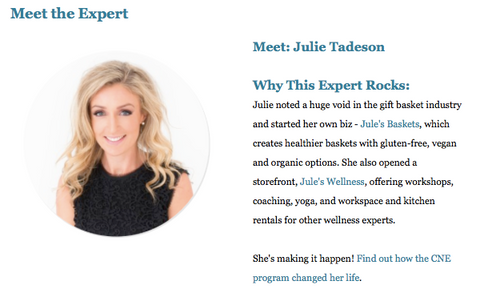 Julie Tadeson Academy of Culinary Nutrition