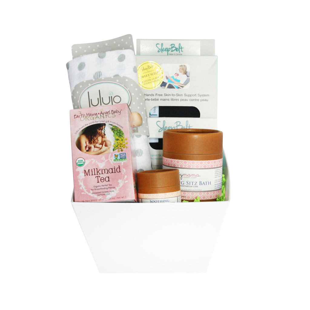 All Natural New Mom Gift Basket