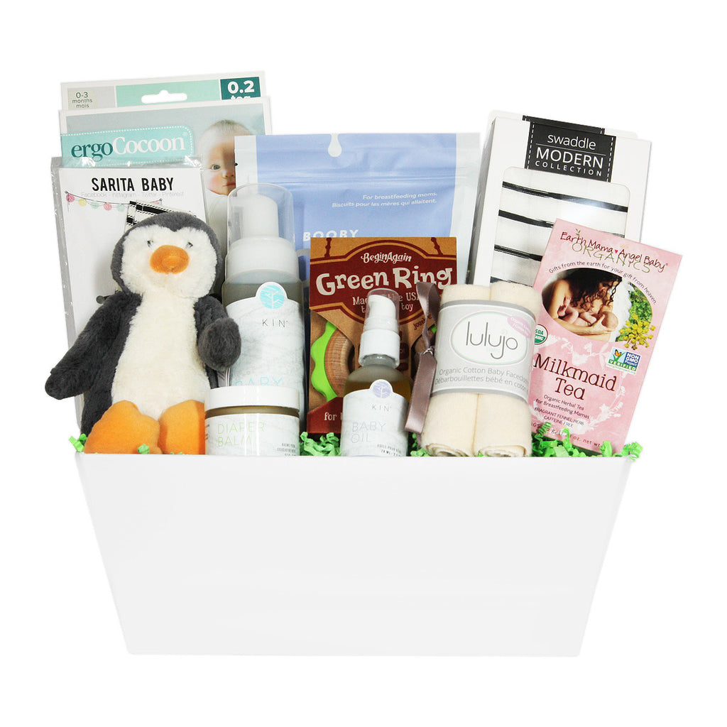 New Mom and Baby Essentials Gift Baskets