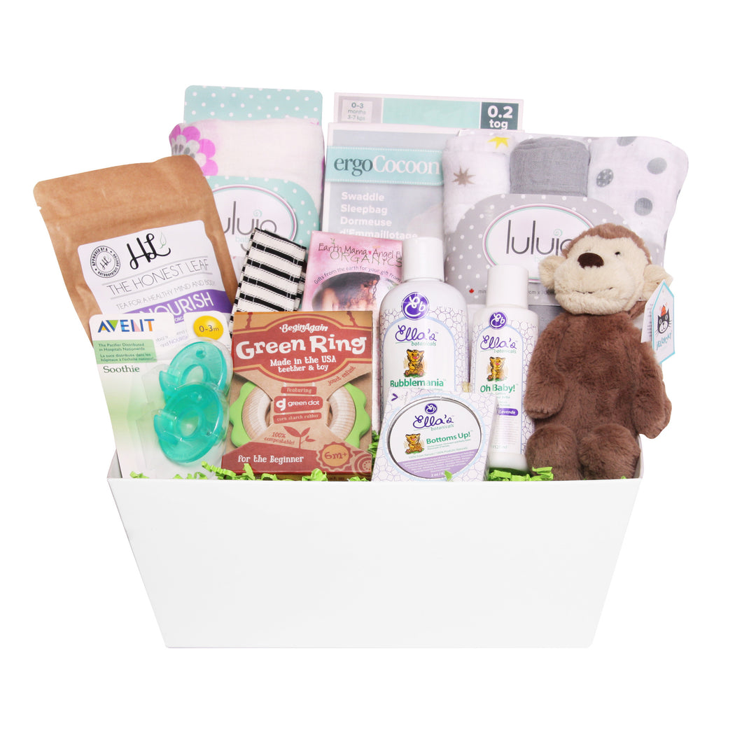 New Baby and Mom Gift Basket