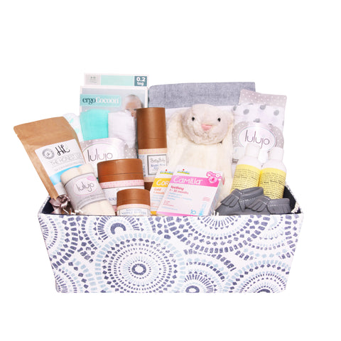 New Mom and Baby Essentials Basket