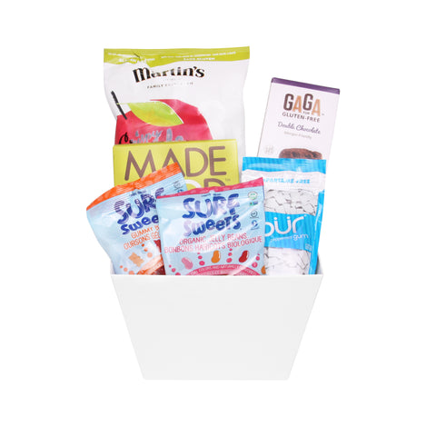 Gluten free vegan gift baskets toronto canada jules baskets sweets treats nut free negle Image collections