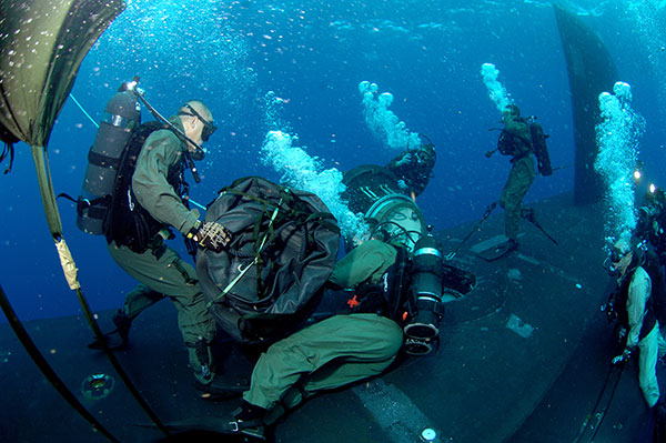 Government and military scuba diving equipment and support at House of Scuba