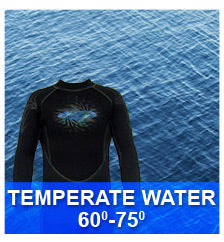 Temperate Water Wetsuits 60-75